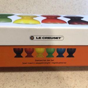 Le Creuset set of 6 Rainbow Egg Cups